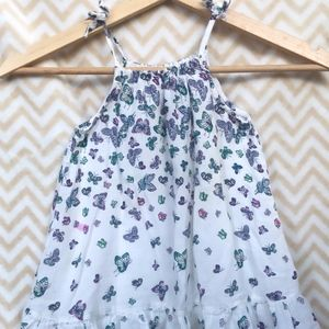 Tie Up Butterfly Dress with Ruffles